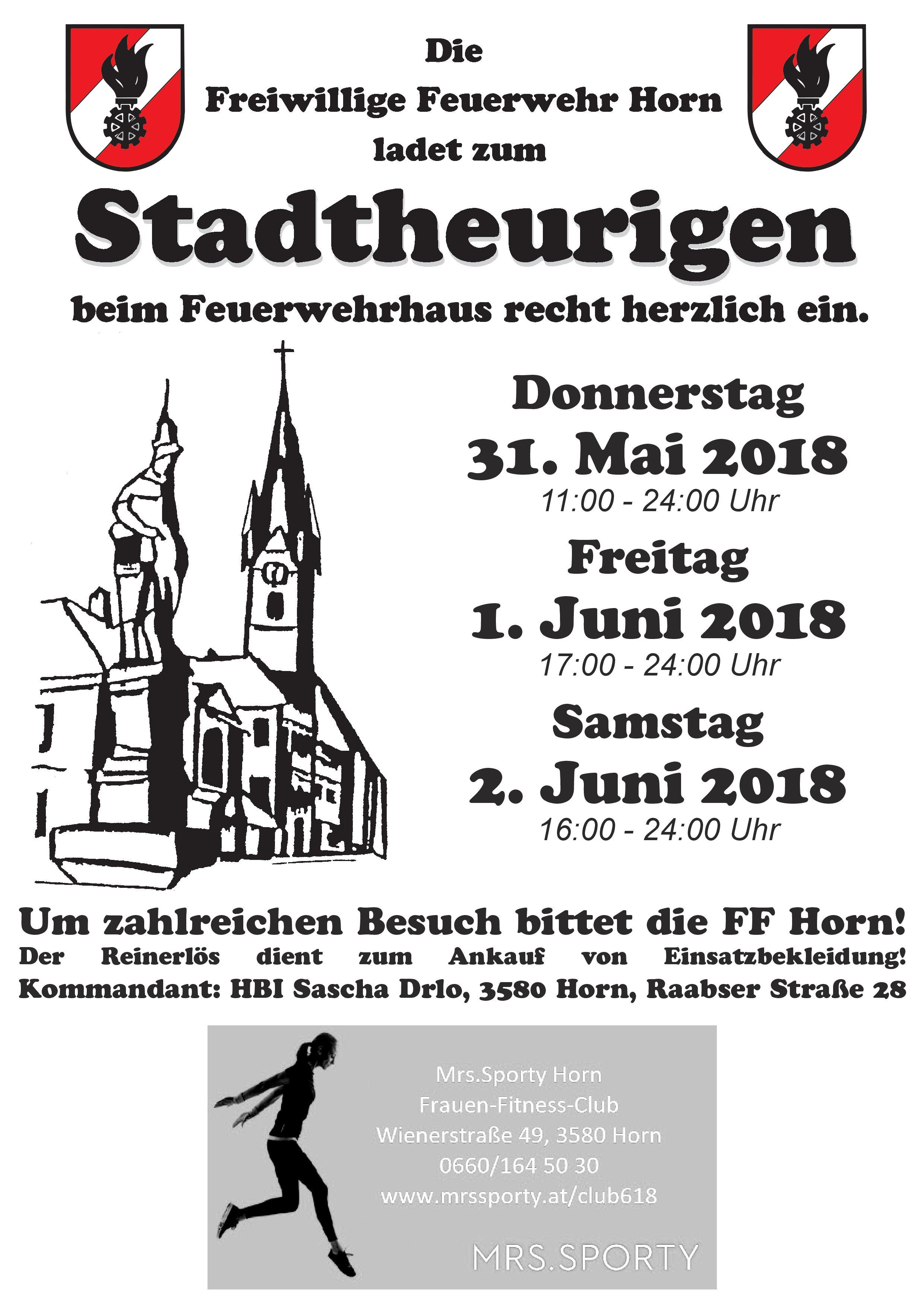 Stadtheuriger FF Horn 2018