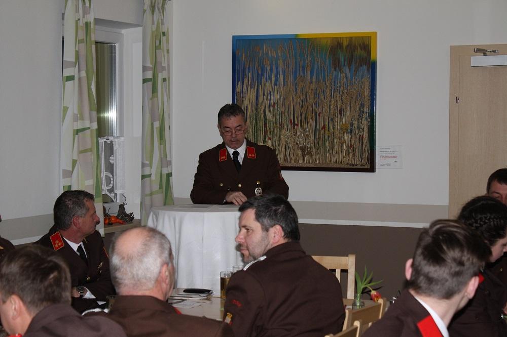 Begrüßung durch Kommandant Schleritzko